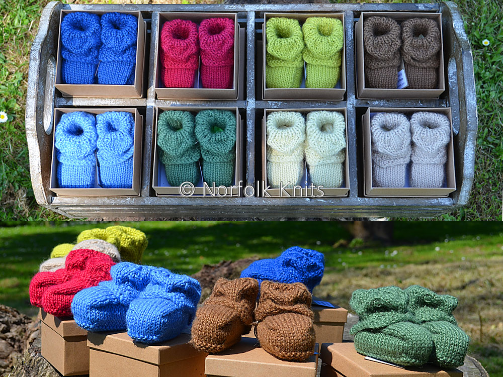 Norfolk Knits Baby Bootees