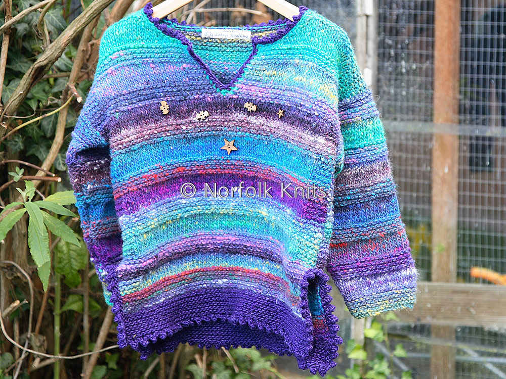 Norfolk Knits handmade Noro Child's Tunic